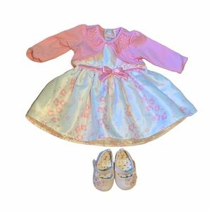 Baby BISCOTTI 3M Dress/Sweater/Shoes